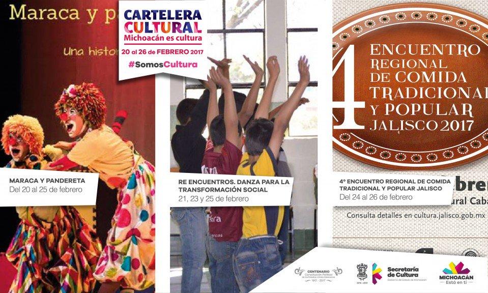 🎭  ¡Agenda los eventos de la Cartelera Cultural del 20 al 26 de febrer...