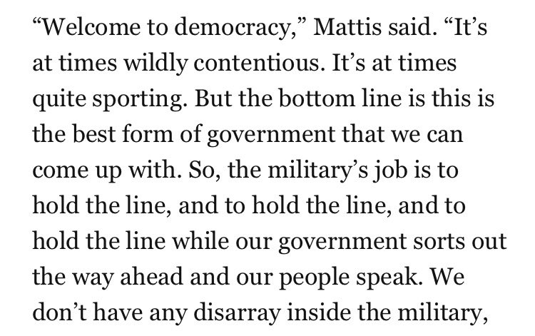Defense Secretary Mattis disagrees with Trump, says he does not see media as the enemy