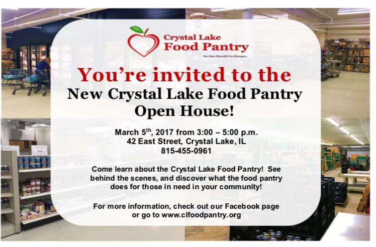 C L Food Pantry On Twitter Open House At The Crystal Lake Food