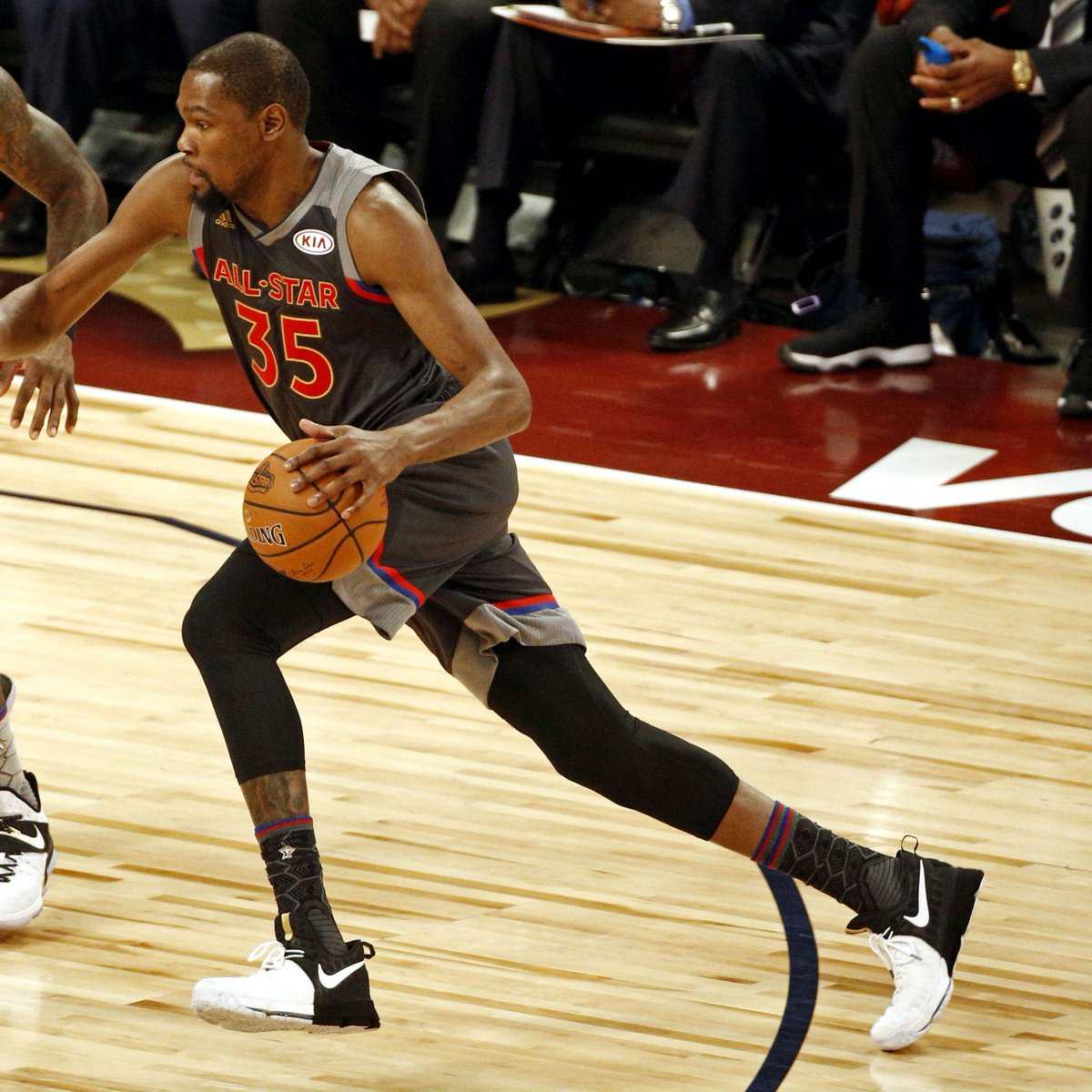 big sale d7a00 cb1c9 solewatch kdtrey5 wearing the bhm nike kd 9 in nbaallstar
