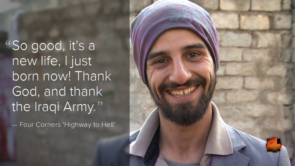 Amid the carnage of the war against ISIS, one man's happy ending. High...
