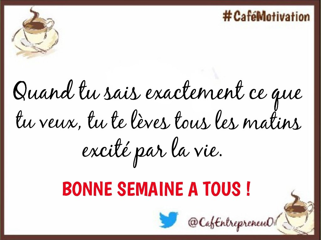 Excellente début de semaine à vous #WorksHard #GoodWeek #CaféEntrepreneurs #MOTIVATION #FirstTime<br>http://pic.twitter.com/caMMKiuIWt