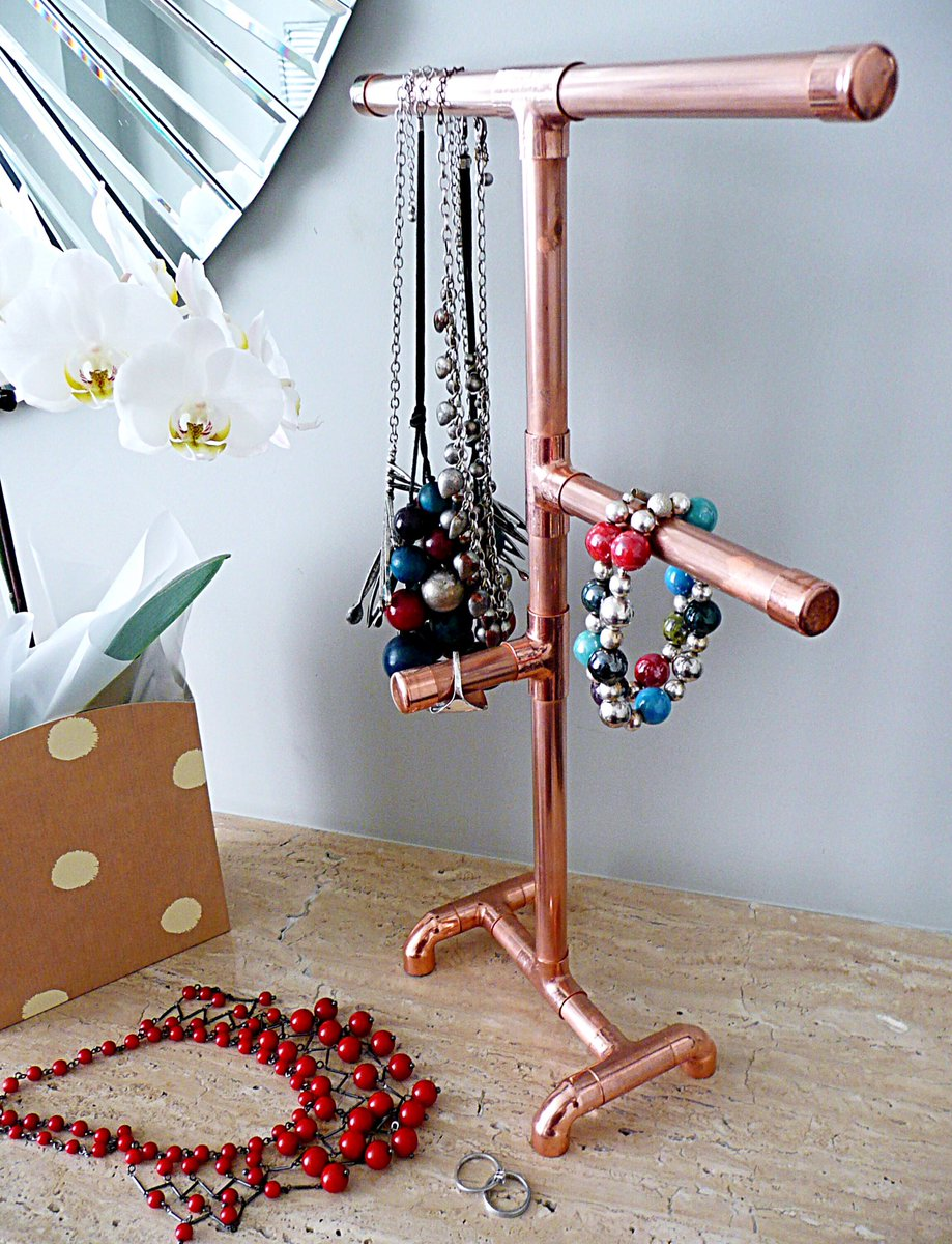 Great way to display and store your jewels  https://www. etsy.com/uk/listing/279 135840/jewellery-stand-copper-pipe-industrial &nbsp; …  #earlybiz #flockbn #87RT #londonislovinit<br>http://pic.twitter.com/f1LLN3Gn9b