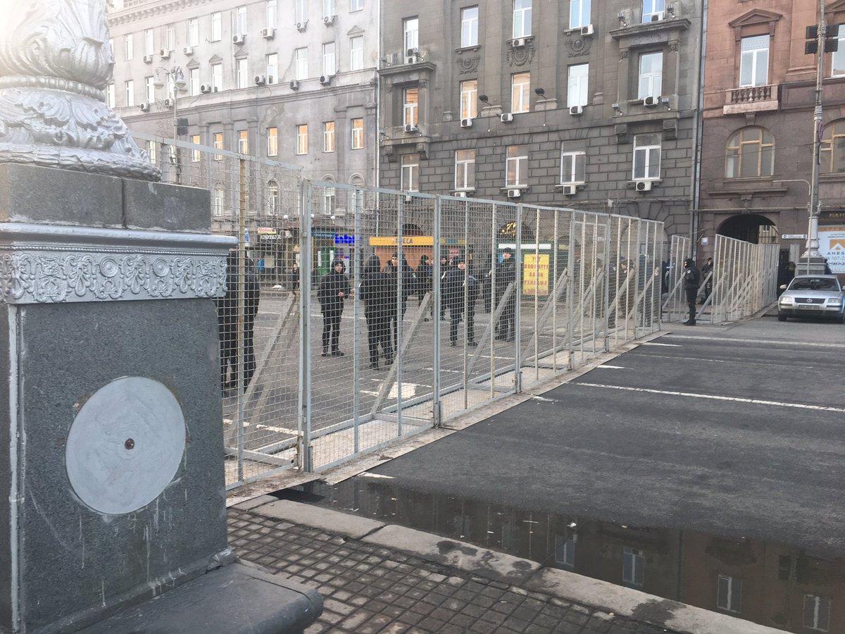Участники блокады Донбасса установили палатку возле АП и перекрыли улицу Институтскую (обновлено) - Цензор.НЕТ 2572