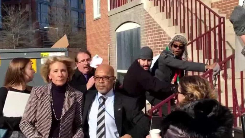 Secretary of Education Betsy DeVos is given U.S. Marshals Service prot...