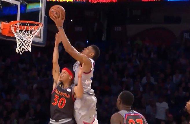 【影片】太殘暴了!Curry慘遭字母哥隔扣,Green和Jordan表情太搞笑