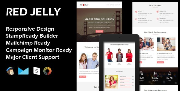Download this Website Template:  http:// bit.ly/2gQQm34  &nbsp;   RED JELLY - Multipurpose Responsive Email Template + Stamp Ready Builder... - #Them <br>http://pic.twitter.com/wrIe0RYjHp