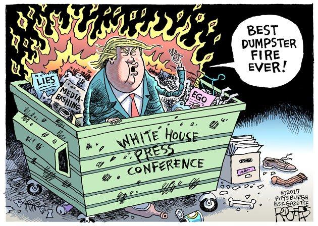 Press Dumpster cartoon: https://t.co/KG1uDg7Oel #TrumpPressConference...