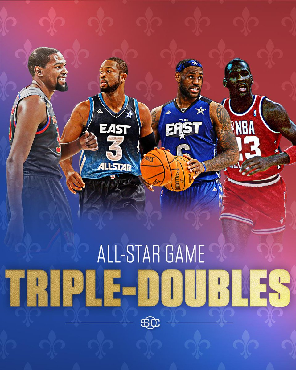 Kevin Durant is just the 4th player to record a triple-double in an Al...