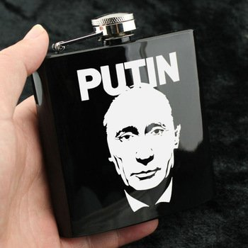 Vladimir Putin Portable Flask #Putin #VladimirPutin  http:// goputin.com/prod  &nbsp;   ...  http:// goputin.com/product/custom -souvenir-of-russian-president-vladimir-putin-tsar-gift-for-man-husband-metal-6-ounce-portable-hip-flask-with-funnel/ &nbsp; … <br>http://pic.twitter.com/XOJPSDsXl4