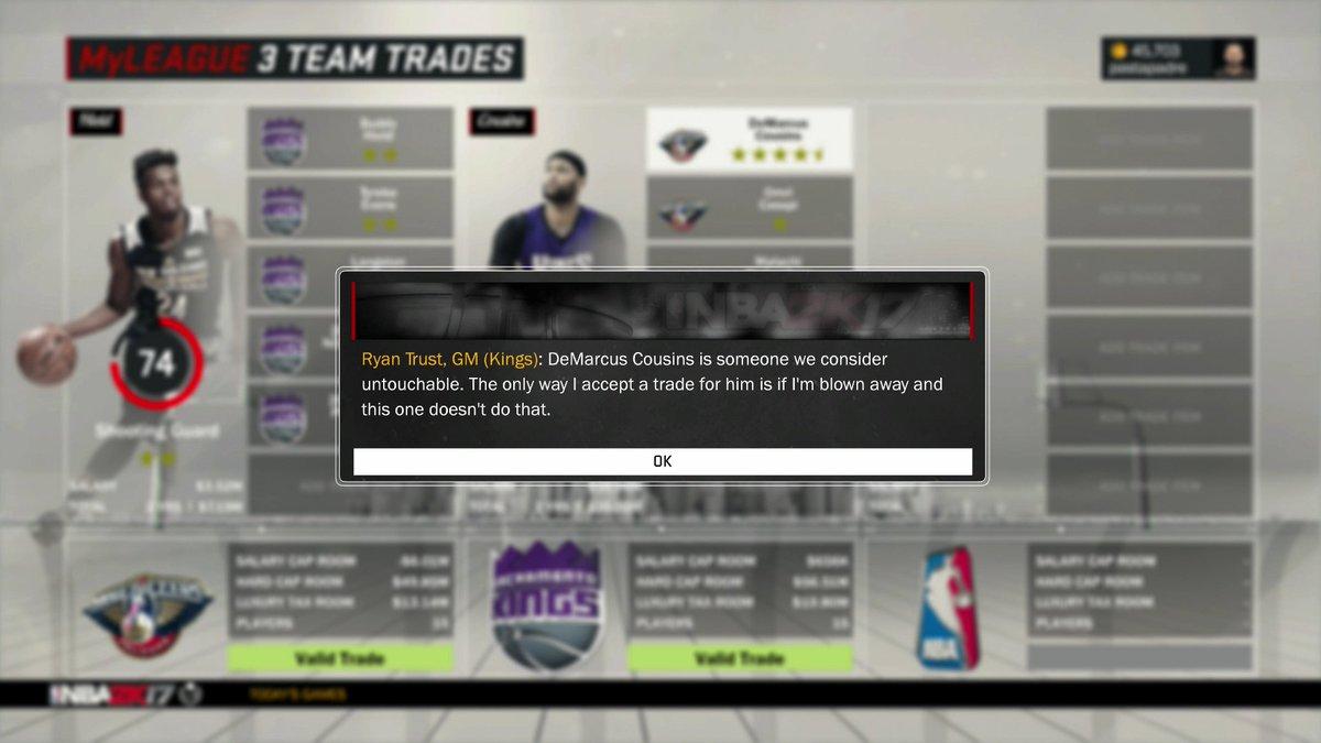 The Kings won't do this deal in NBA 2K17 https://t.co/ERaK6TzVfq