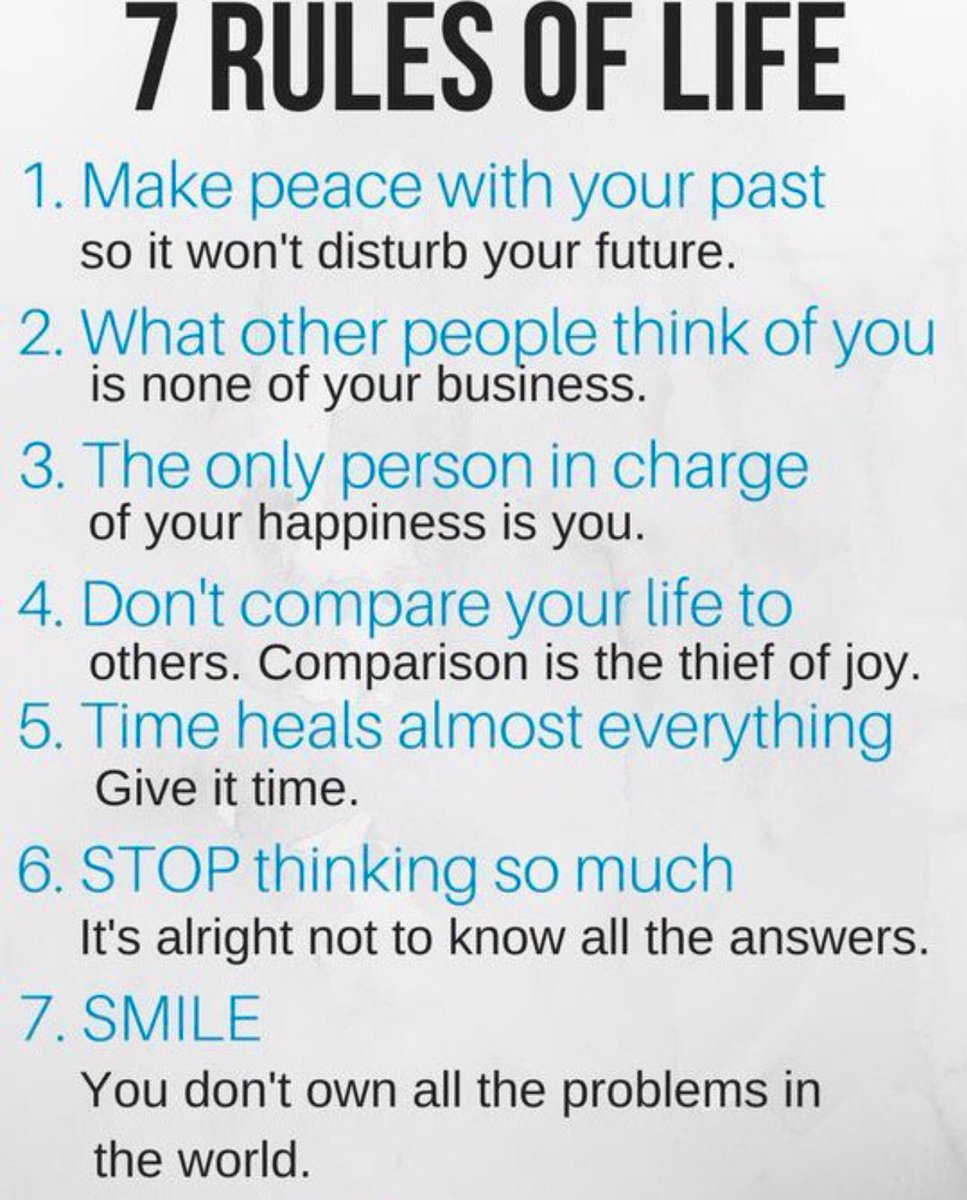 "7 Rules Of Life Quote Wright Thurston On Twitter ""the 7 Rules Of Life 10Millionmiler"
