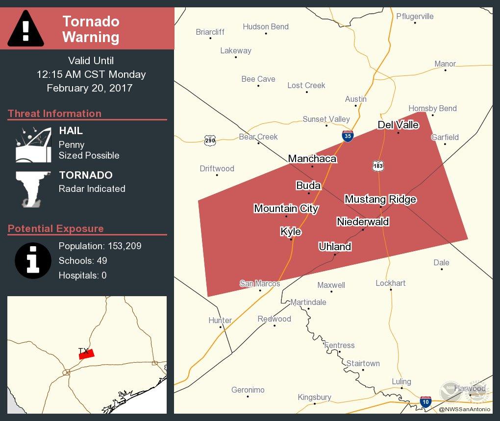 Map Of Texas Kyle.Nws Austin San Antonio On Twitter Take Cover Tornado Warning