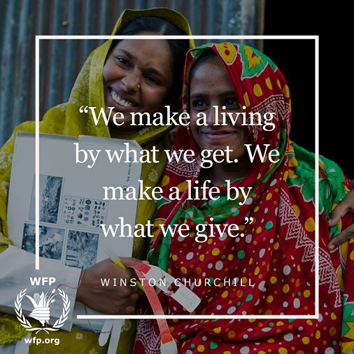 #Quote: 'We make a living by what we get. We make a life by what we gi...