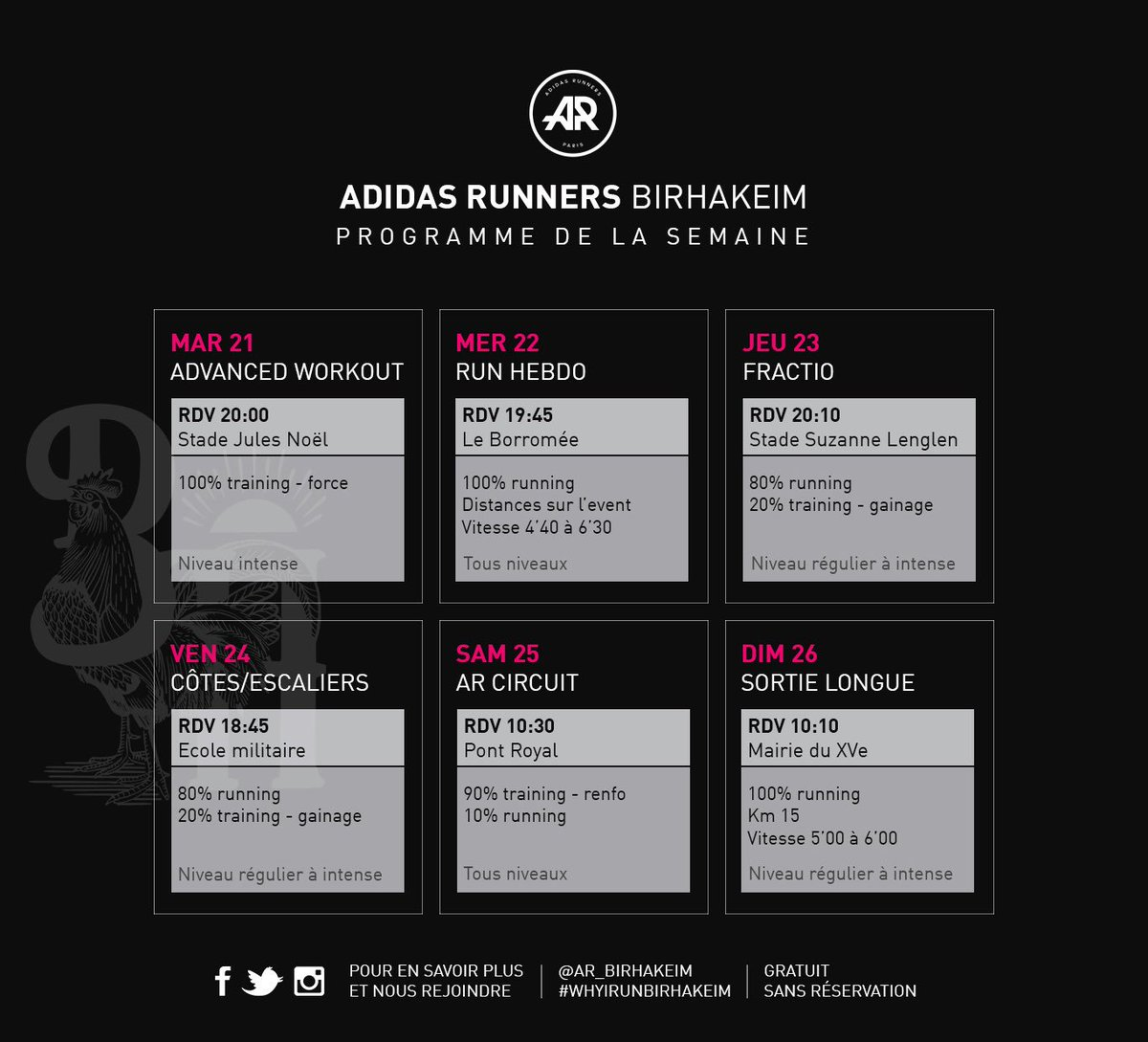 On se voit tous les jours à partir de demain!   #whyirunbirhakeim #planning #sport #training #adidasrunners #whyirunparis<br>http://pic.twitter.com/ZBDmnE9kih