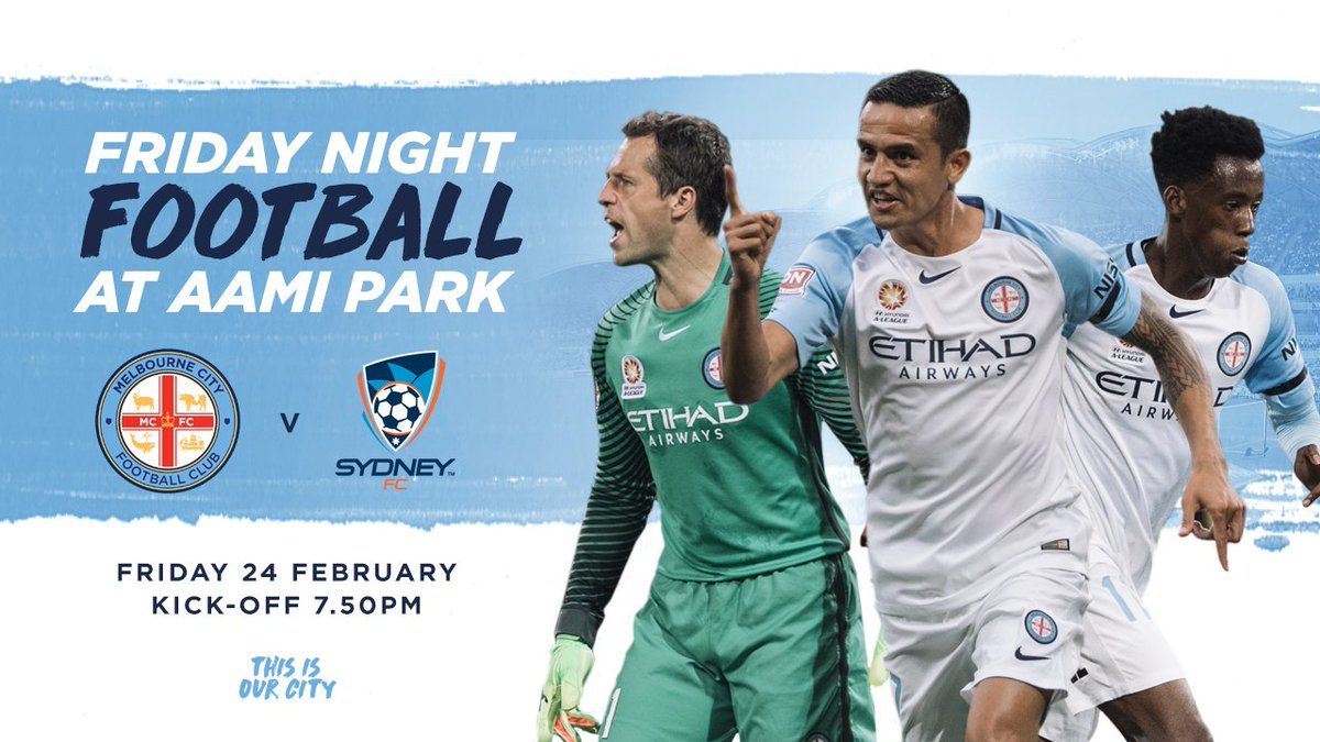⚔️ #MCYvSYD 📅 Friday 24 February ⏰ 7.50pm 🏟️ @AAMIPark Don't miss it!!...