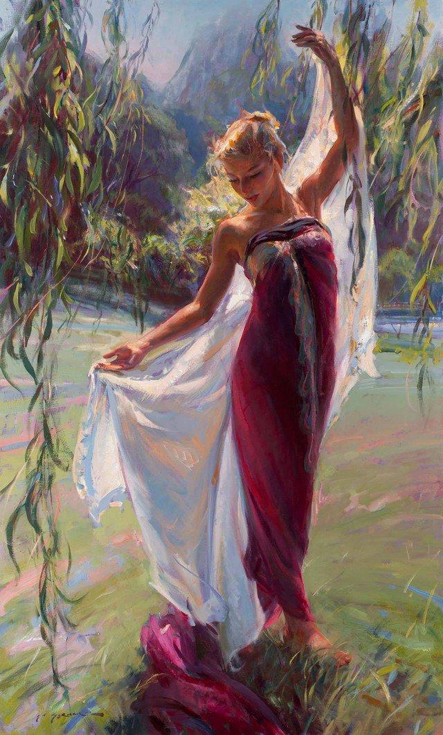 El Baile de los Sauces  #artist Daniel Gerhartz  #painting oil on canvas  #dance #willows #drooping #water <br>http://pic.twitter.com/hBMu4Jiv4C
