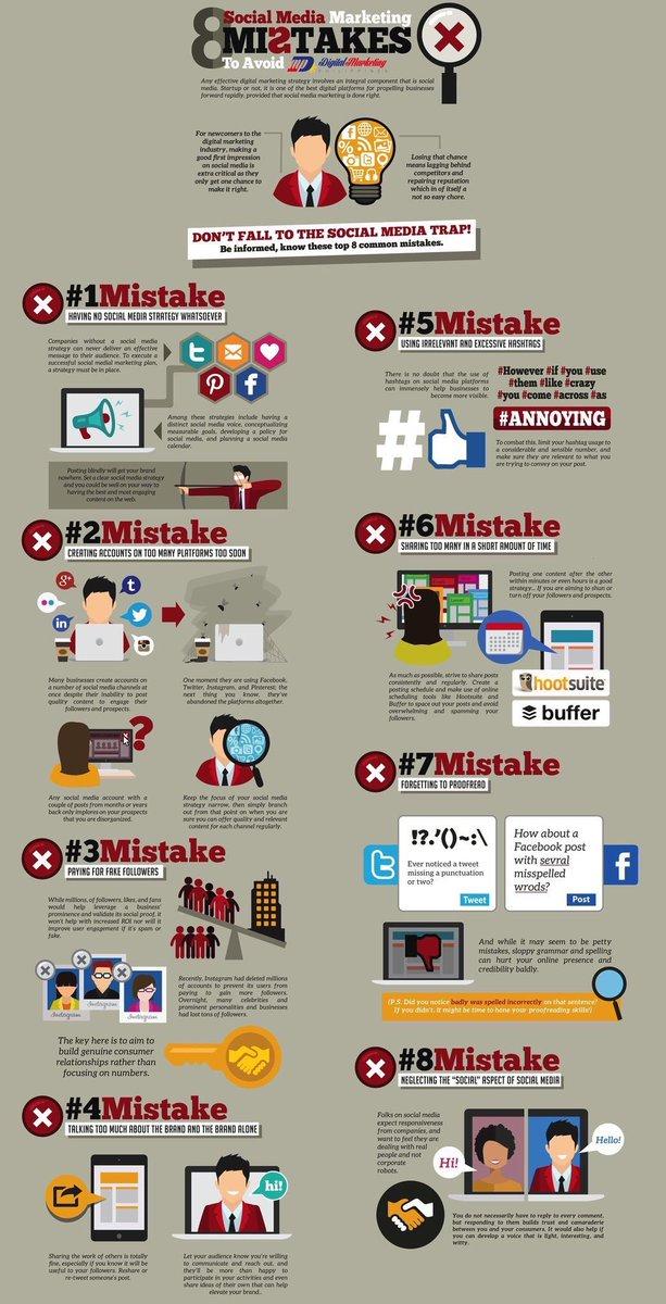erreurs à ne pas commettre sur les reseaux sociaux, comme par exemple... négliger le côté social  @GrowUrStartup #socialmedia <br>http://pic.twitter.com/lD2RG54NpF