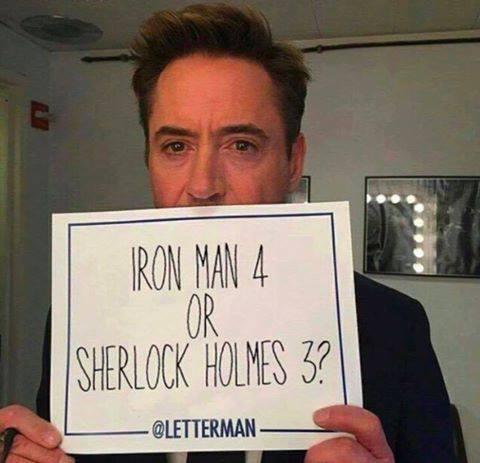 Alors vous êtes plus #IronMan 4 ou #sherlockholmes 3 ? Nous on a une petite préférence pour IronMan<br>http://pic.twitter.com/86g1EkTIeq
