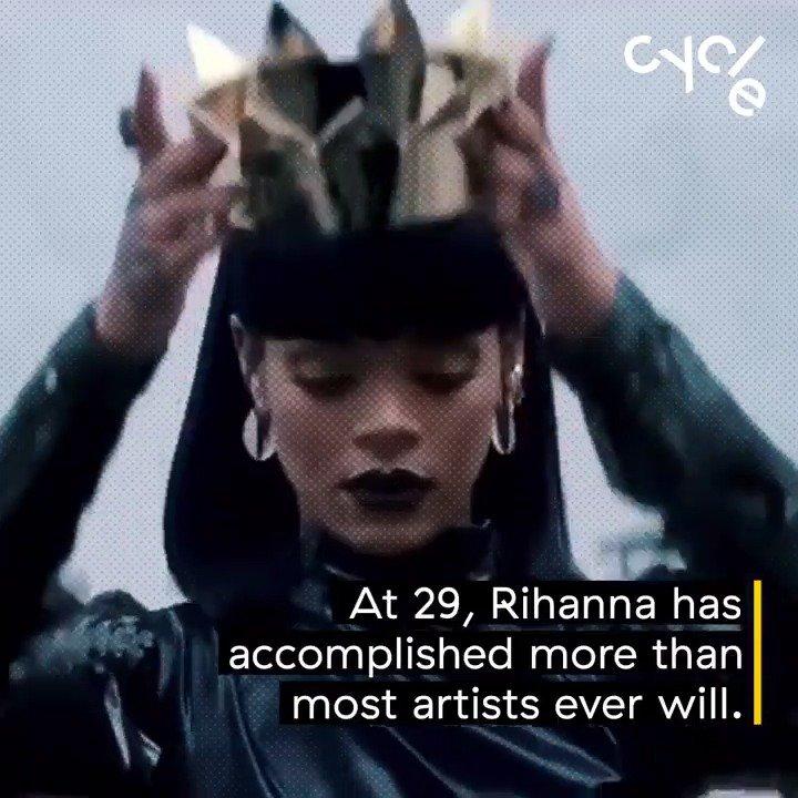 At 29, @Rihanna has more No. 1 songs than Michael Jackson and more rec...