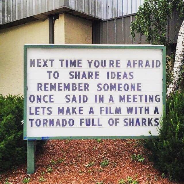 N&#39;ayez pas peur de partager vos idées, bonne semaine à tous :)  #Share #Ideas #inspiring #Sharknado<br>http://pic.twitter.com/H2lh2gqIRm