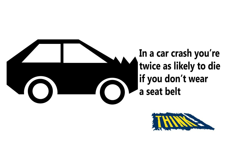 It takes a second to put your seatbelt on but it could save your life. No seatbelt = £100 fine #clunkclick #beltup #safetyfirst <br>http://pic.twitter.com/eBdBN4oFKp