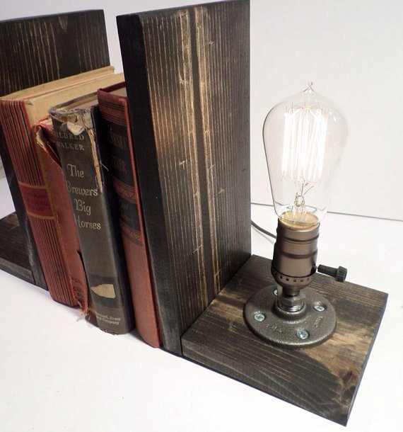 #steampunk https://t.co/J7zLMaFuwX Industrial Lamp-Rustic Edison Bookend Lamp-Steampunk Reading Desk Light-Pipe la…