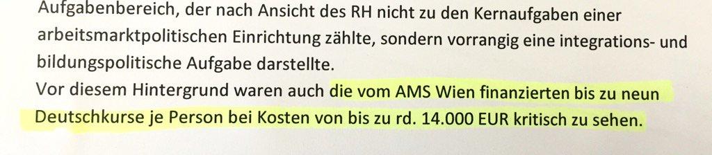 Teil4: AMS zahlt pro Asylberechtigten bis zu 9 Deutschkurse um 14.000€...