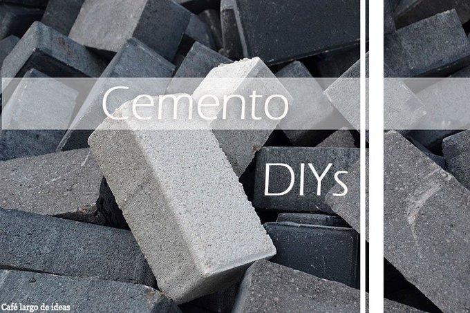 Macetas de cemento y otros DIY