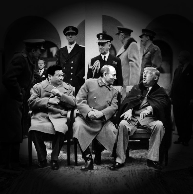 New Yalta by Vitaly Komar. Read his comments on The Big Three, past and present. https://t.co/M0oBo1KVcV  #Jinping #Putin #Trump #yalta