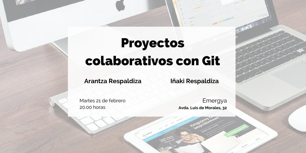 [#GIT] @marhdotes y @irespaldiza nos contarán sus experiencias en proyectos en el @MeetupES https://t.co/innyc3TEhx #GesProSev https://t.co/BCOzI3IMpc