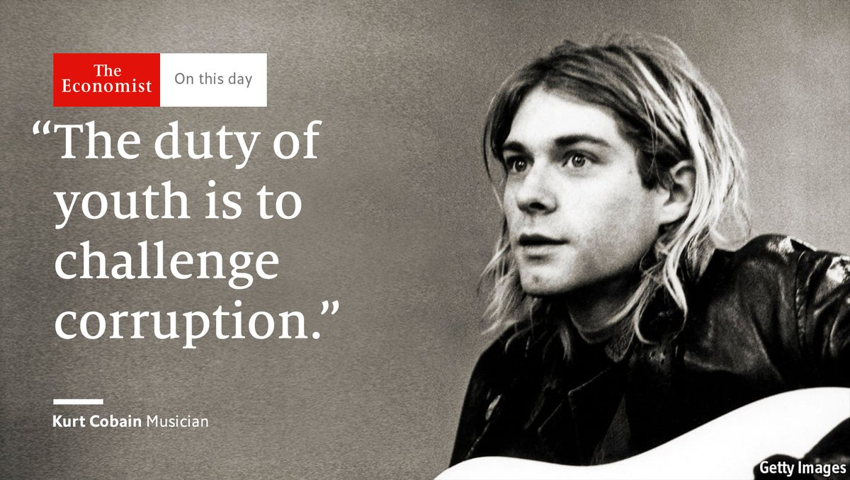 One of the best songwriters of a generation, Kurt Cobain was born #OnT...