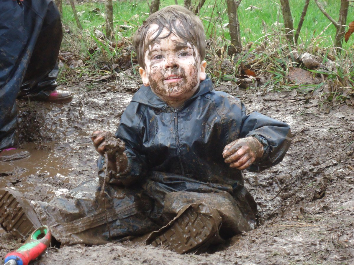 Mud, Mud, Glorious Mud!  This little man had a great time in Forest School at Acorns Llanishen.  #forestschool #mud #sensoryadventures<br>http://pic.twitter.com/0X0Tvrlju9