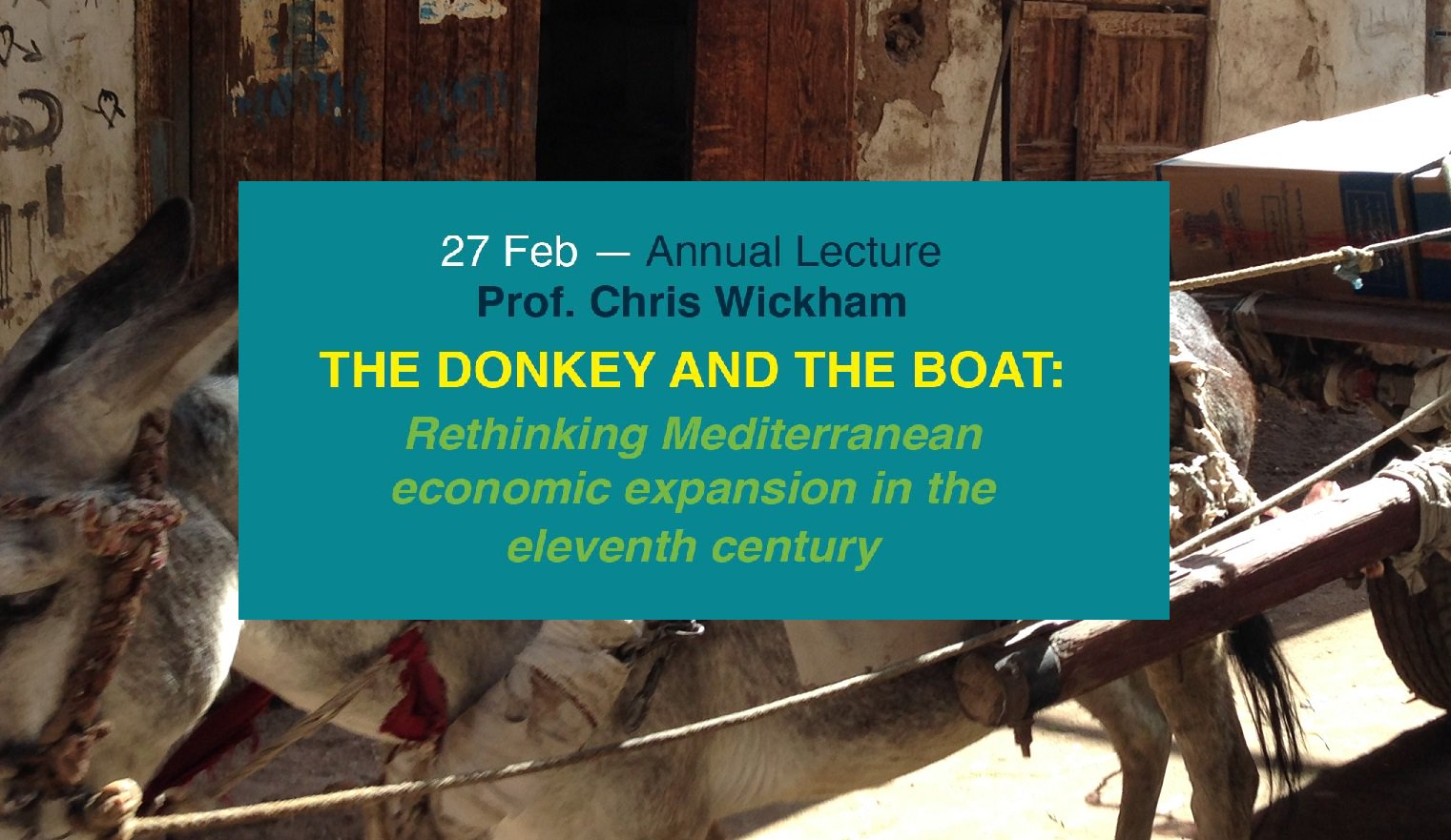 Prof. Chris Wickham to give BRIHC's annual lecture, Mon 27 Feb #medieval #mediterranean #econhist, all welcome  https://t.co/7jDPzQF4yC https://t.co/6vYZAoxHXZ