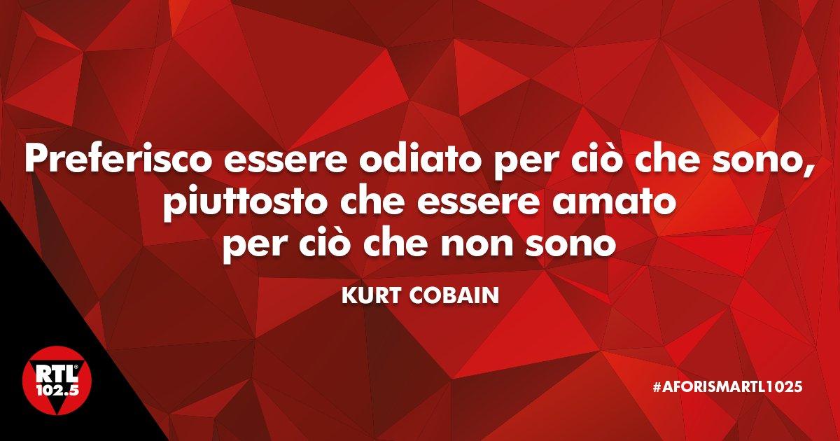 L' #AforismaRTL1025 di oggi è tutto dedicato a #KurtCobain! #20febbrai...