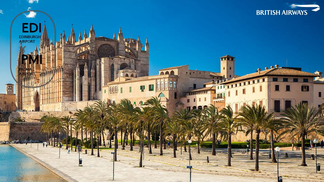 We&#39;re thrilled to announce a new summer route from #Edinburgh to #Palma, Mallorca. You can fly direct from 2 June:  http:// ba.uk/gD3WiD  &nbsp;  <br>http://pic.twitter.com/ljS0laeLOw