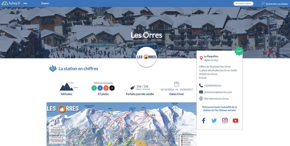 Des questions sur la station @Les_Orres ? La fiche de la station est désormais en ligne sur @hohey_fr ! :) #skiresort #stationdeski #snow <br>http://pic.twitter.com/zRKp8BRig4
