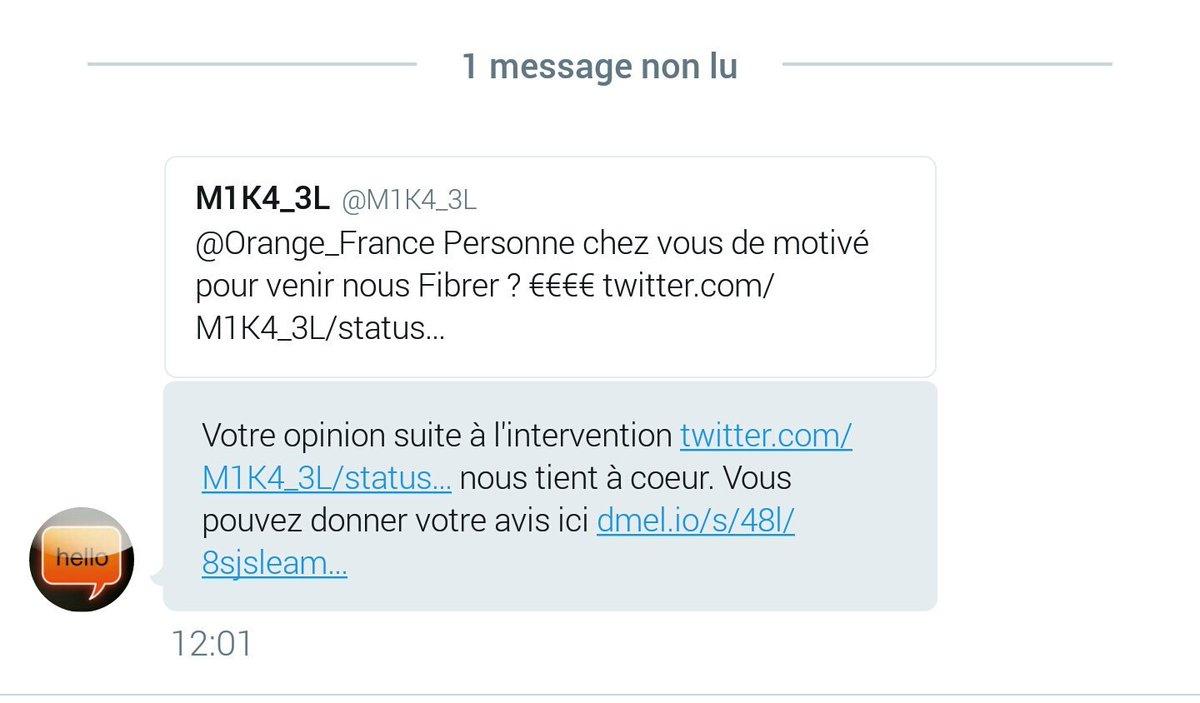 . En  je me fais troller #Troll La réponse a l&#39;enquête ne va pas être piqué des hannetons  @OrangeOccitanie @Orange_France @Orange_conseil<br>http://pic.twitter.com/YcMgijuX3t