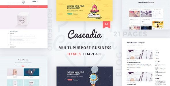 Download this Website Template:  http:// bit.ly/2h463V5  &nbsp;   Cascadia - Multipurpose Business Agency Personal Portfolio HTML Template... - #Them <br>http://pic.twitter.com/eDAY4DJKax