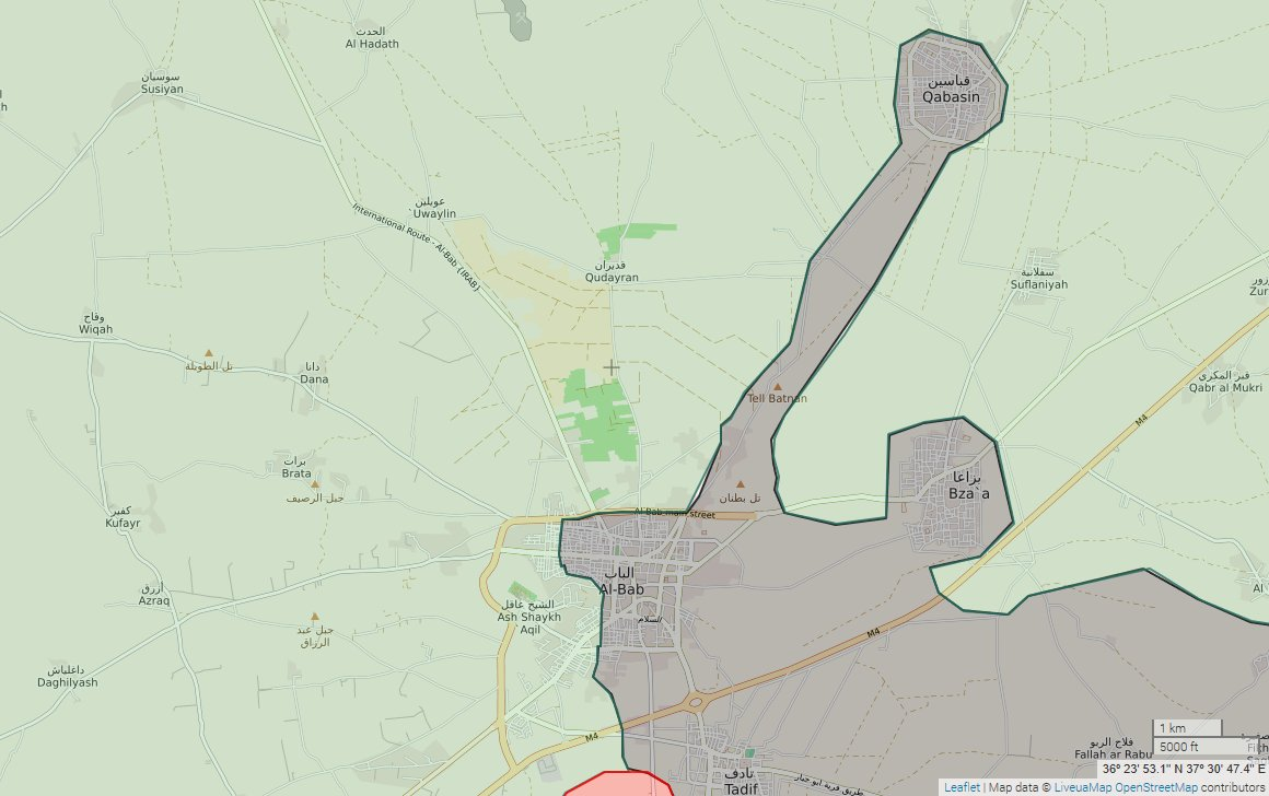 #Aleppo: Situation in #Al_Bab after #EuphratesShield recaptured several locations in #Al_Bab from #ISIS.<br>http://pic.twitter.com/y6rljgkCdm