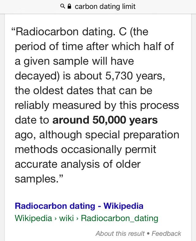 Wikipedia radiocarbon dating