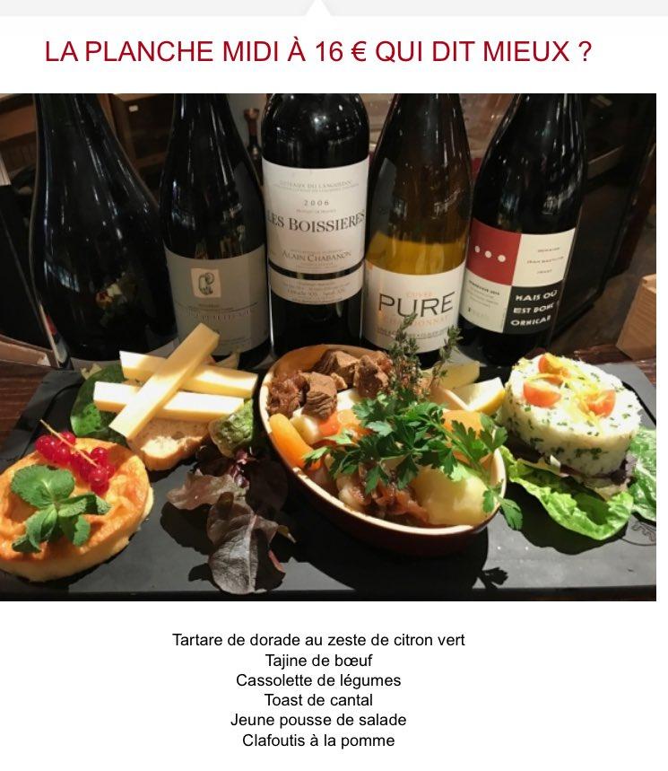 La Planche midi de la semaine est à 16€ à #Montpellier ! Qui dit mieux ? #food #lunch #déjeuner #Vin #Languedoc<br>http://pic.twitter.com/A9aFE9VmBr