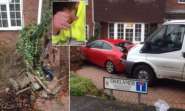 Drunk milkman smashes his float into a couple's £30,000 Mercedes and home http://dailym.ai/2llxRDV