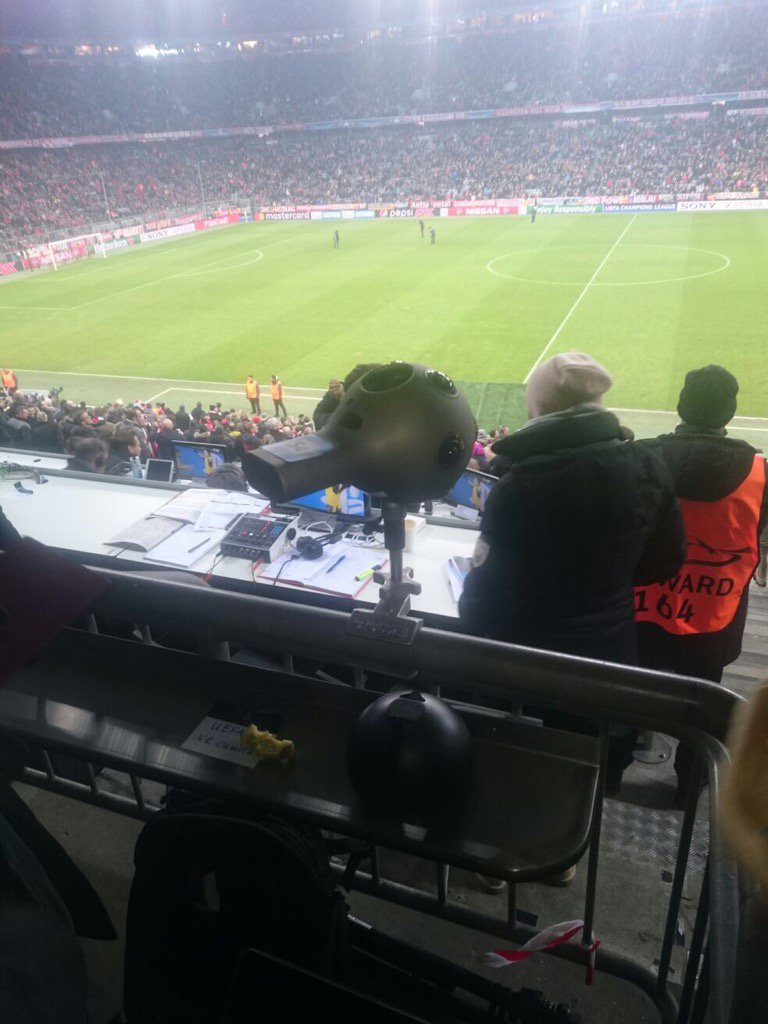 Great shot of #nokiaozo @FCBayern match last week. As supplied by @CCK...