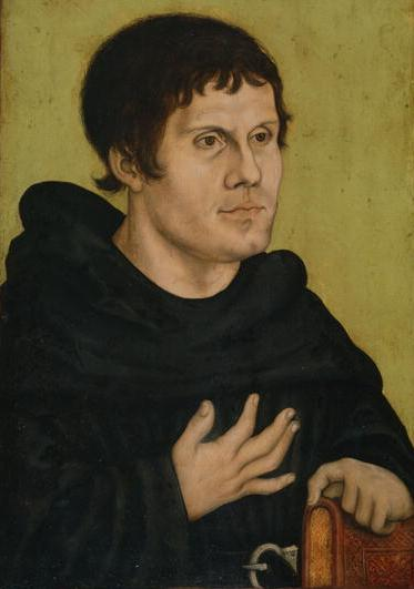 Portrait of Martin Luther as an Augustinian Monk by Lucas Cranach the Elder (c.1523) #northern renaissance #art<br>http://pic.twitter.com/nSpCAFFE3h