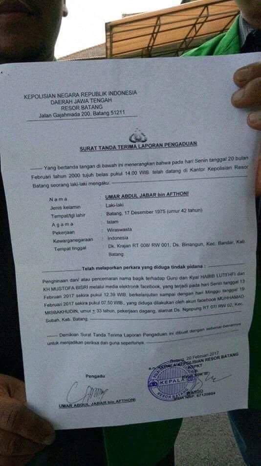 Van Hering V Twitter Penghina Gus Mus Dan Habib Lutfi Dilaporkan Ke Polisi Capgome