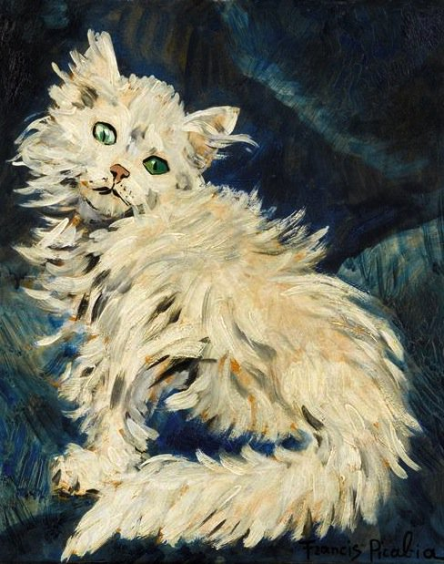 Fancy cat #MewseumMonday : Picabia - Chat blanc, 1953