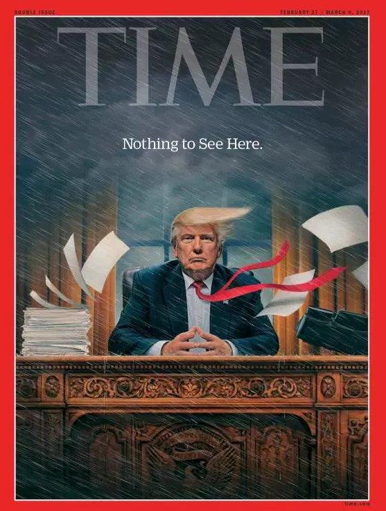 'El caos en la casa blanca durante el primer mes de #DonaldTrump' Port...
