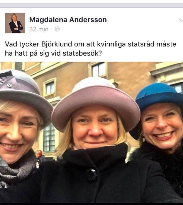 Skäms över regeringens kvinnliga ministrar som jämför hatt med slöja. Feminismen när den är som sämst. Och ni ska stå upp för de utsatta?