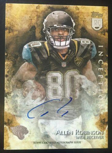 2014 Inception #8 Allen Robinson Autograph RC #Jaguars  http:// dlvr.it/NQmm7W  &nbsp;   #Football<br>http://pic.twitter.com/JAPuVehoxu